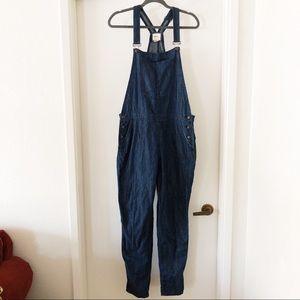 forever 21 | dark wash denim jean overalls, sz 30